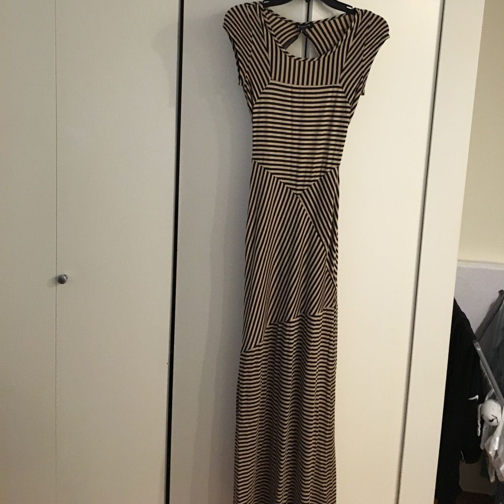 Like new bebe long dress with cut outopen back products