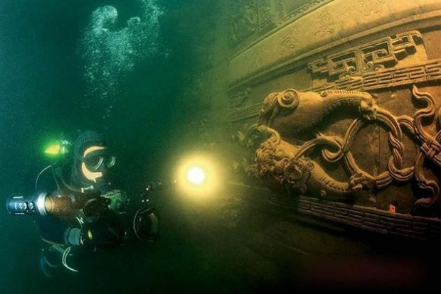 Duik Naar Een Gezonken Stad In China Ancient Underwater Cities Underwater City Qiandao Lake