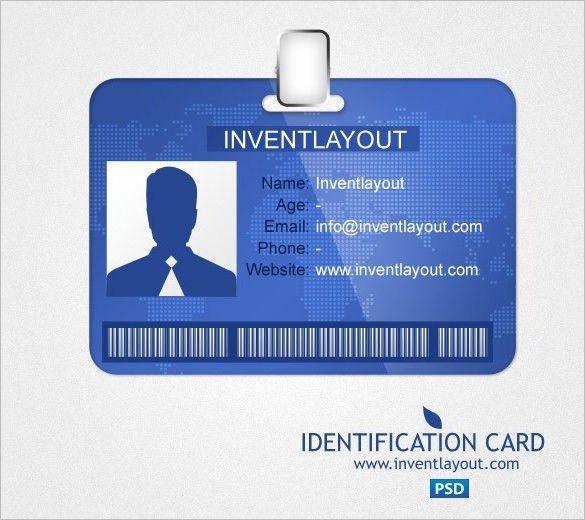 id template free 18+ ID Card Templates \u2013 Free PSD Documents Download - free id badge templates