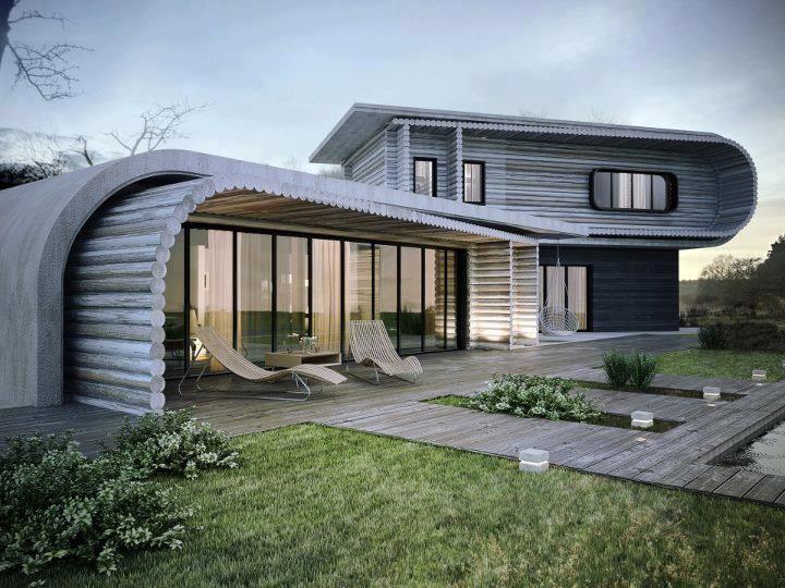 Une Maison Contemporaine Qui Su0027intègre Parfaitement Dans La Nature
