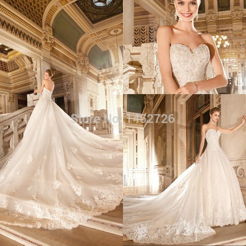 Royal+Cathedral+Train+Wedding+Gowns | Aliexpress.com : Buy Luxury ...