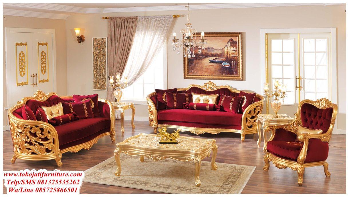 Gambar Kursi Tamu Ukiran Mewah Desain Sofa Produk Model Katalog Jepara