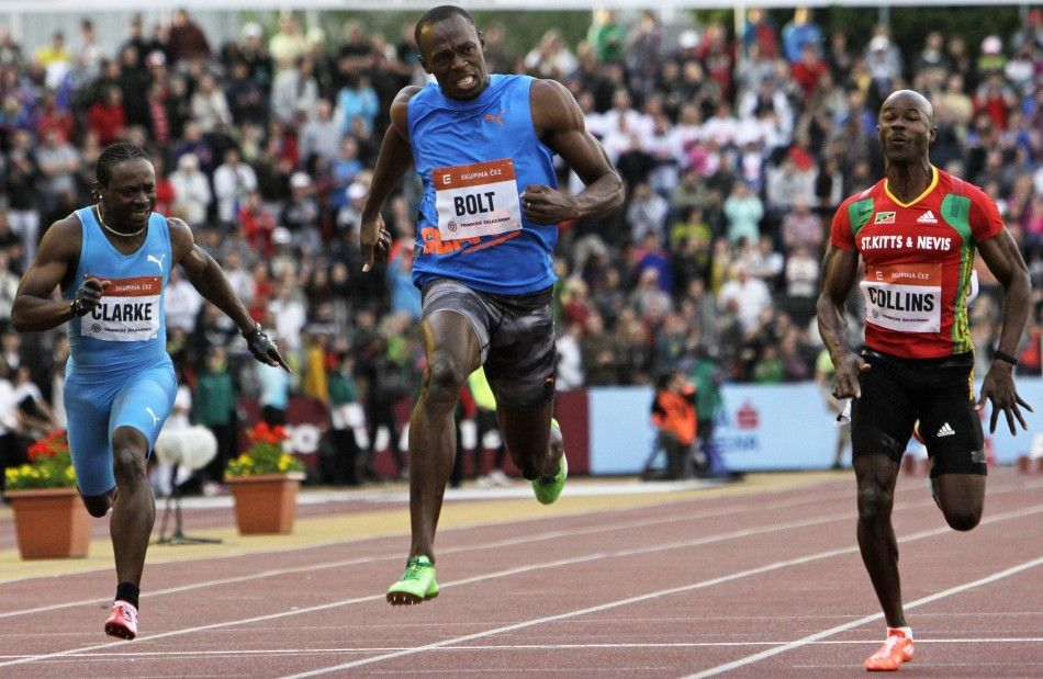 Usain Bolt Wins 100 m, shot on May 25, 2012