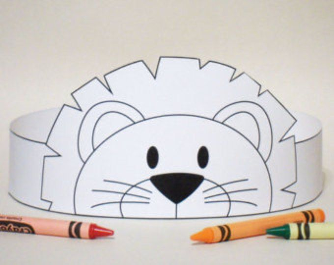 Pirate Paper Crown COLOR YOUR OWN - Printable | Paper crowns, Animal ...