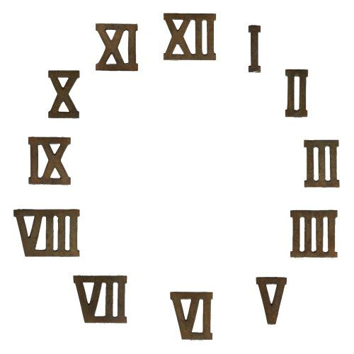 A rarely available set of 12 vintage cast iron Roman numerals All - roman numeral chart template