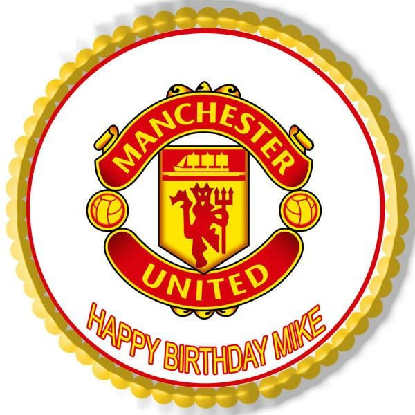 Manchester United Edible Cake Topper Or Cupcake Topper Decor Manchester United Logo Manchester United Football Manchester United