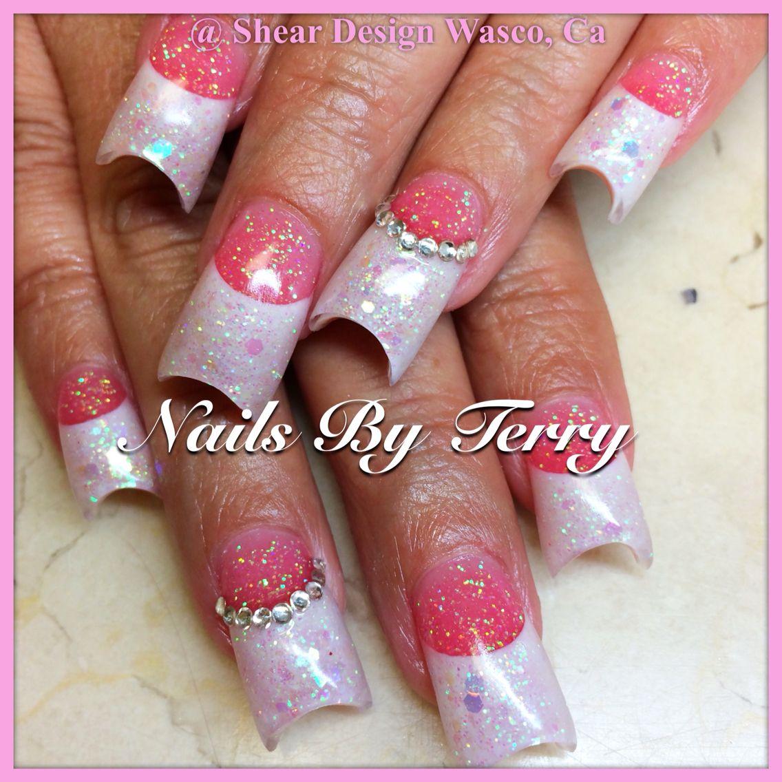 New Rockstar Acrylic Nail Designs: Pink And White Acrylic Nails