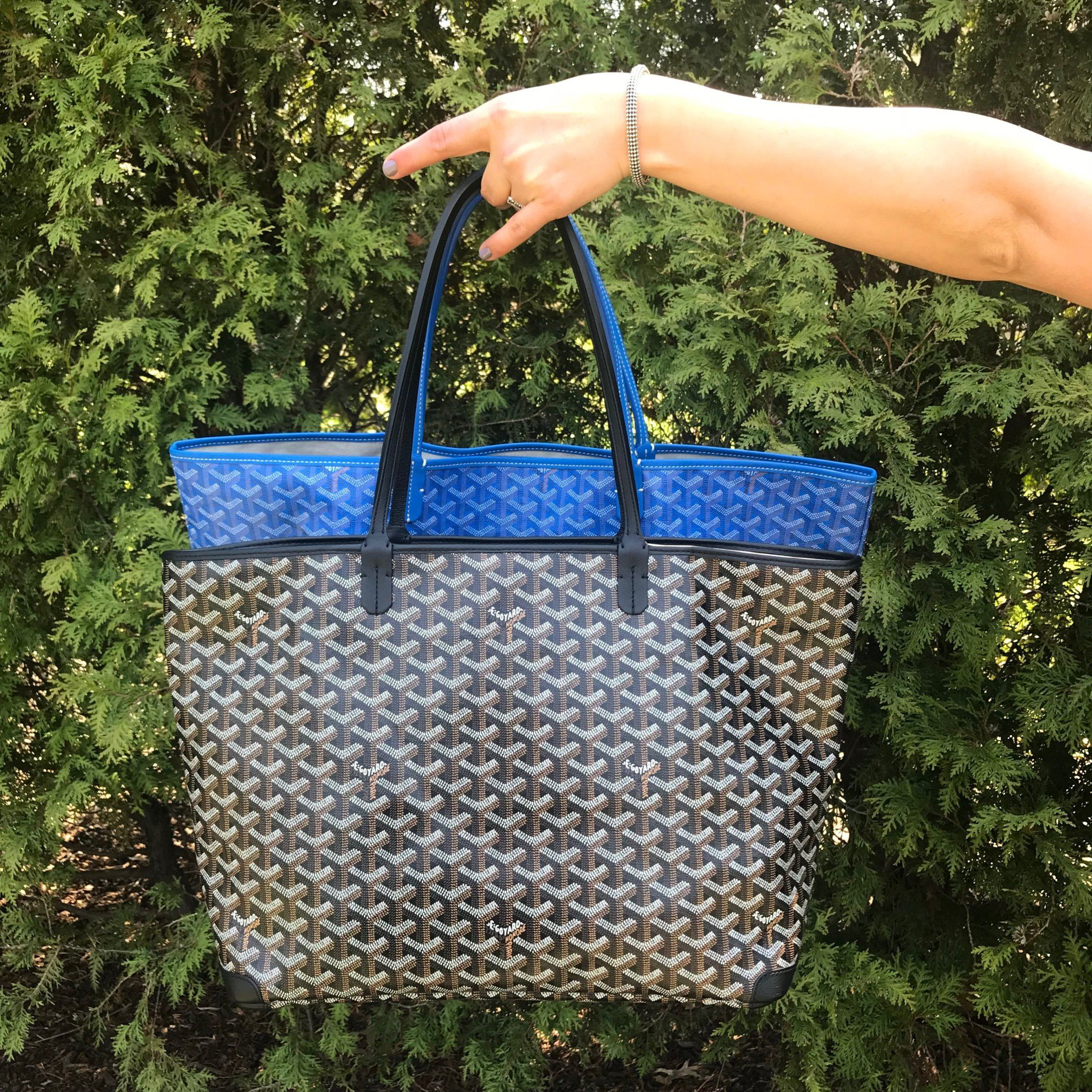 3f609a04243 comparison of goyard saint louis tote GM blue goyard artois tote mm ...