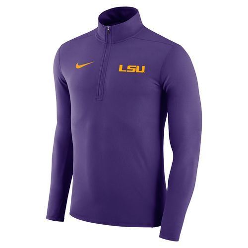 Nike™ Men's Louisiana State University Element 1/4 Zip Pullover (Purple, Size X Large) - NCAA Licensed Product, NCAA Men's Fleece/Jackets at Academ...