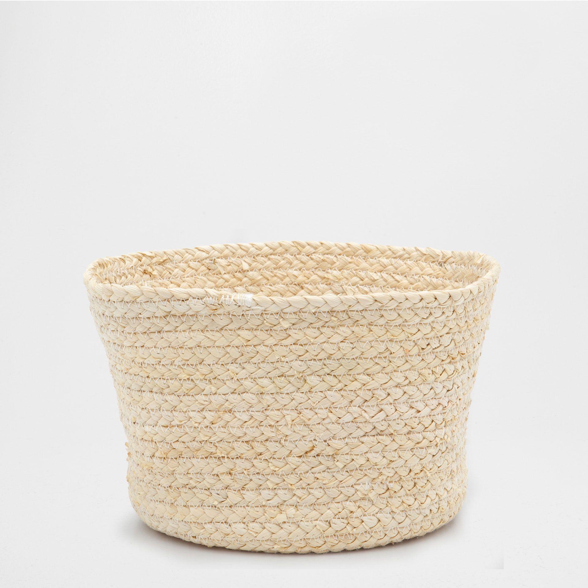 Natural Colored Round Basket Baskets Decoration Zara Home