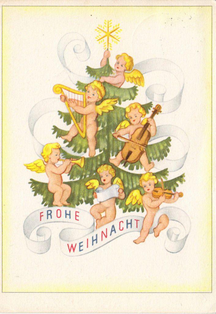 Antique German Christmas Postcard