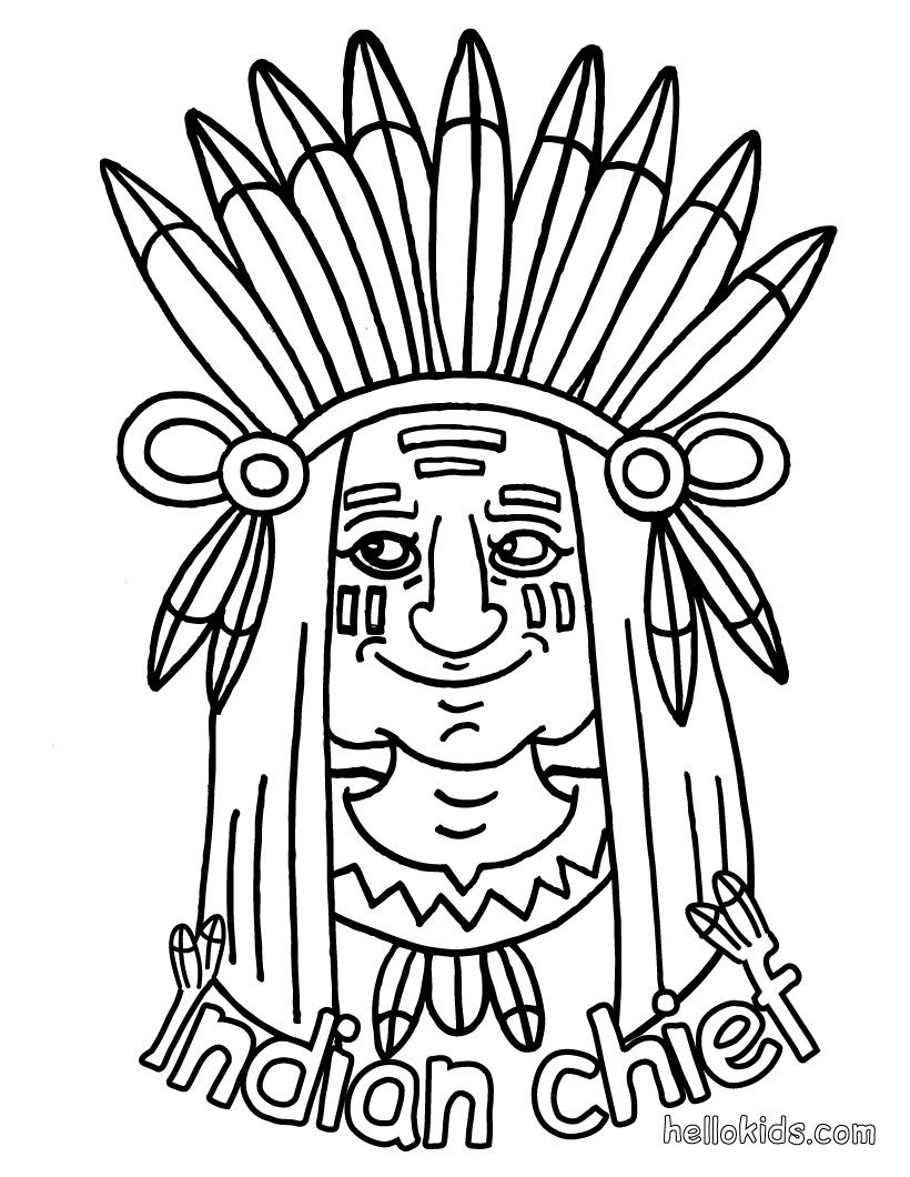Indian coloring page - INDIAN coloring pages * 1500 free paper dolls ...