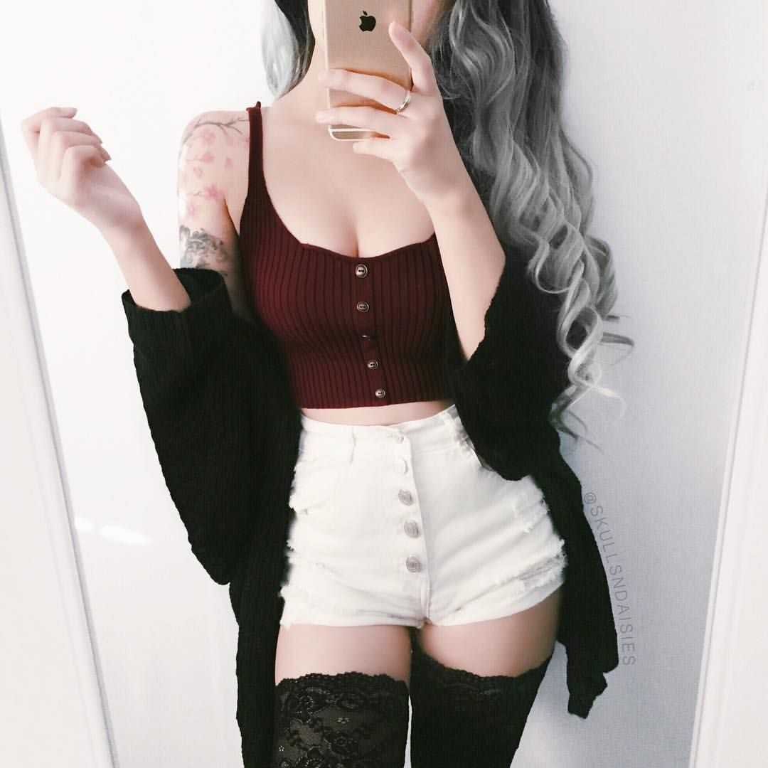 I N D Y On Instagram Or Top Cardigan Socks Shopsweetmayhem Save With Code Want Shorts Charlotterusse Fashion Outfits Fashion Cute Outfits