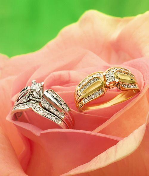 Diamond Bridal Sets My Ring Brooke Walmart Wedding Rings Diamond Bridal Sets Wedding Ring Trio Sets