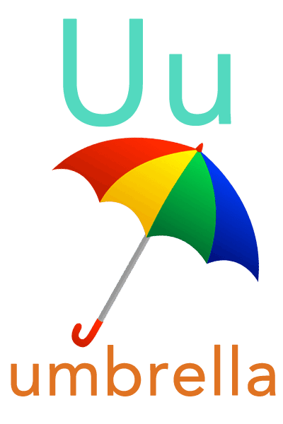 Baby Abc Flashcard U For Umbrella