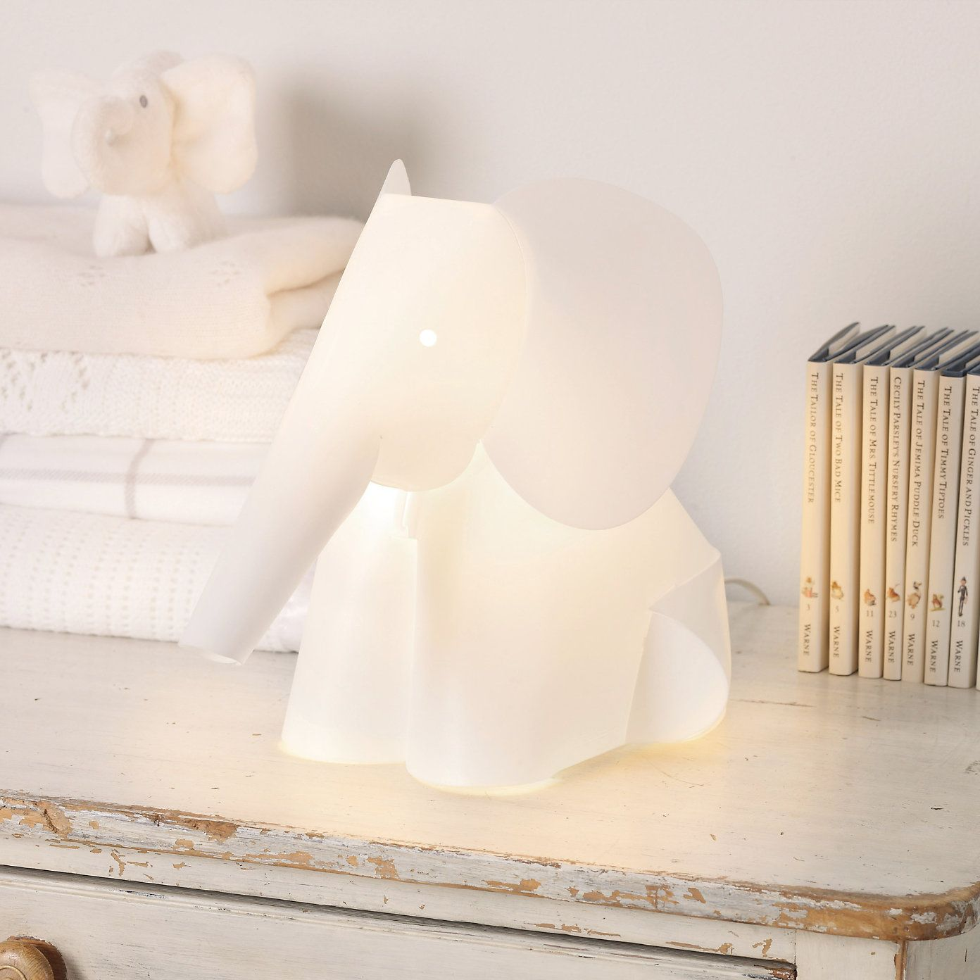 Buy Childrens Bedroom > Nursery > Elephant Light from The White Company