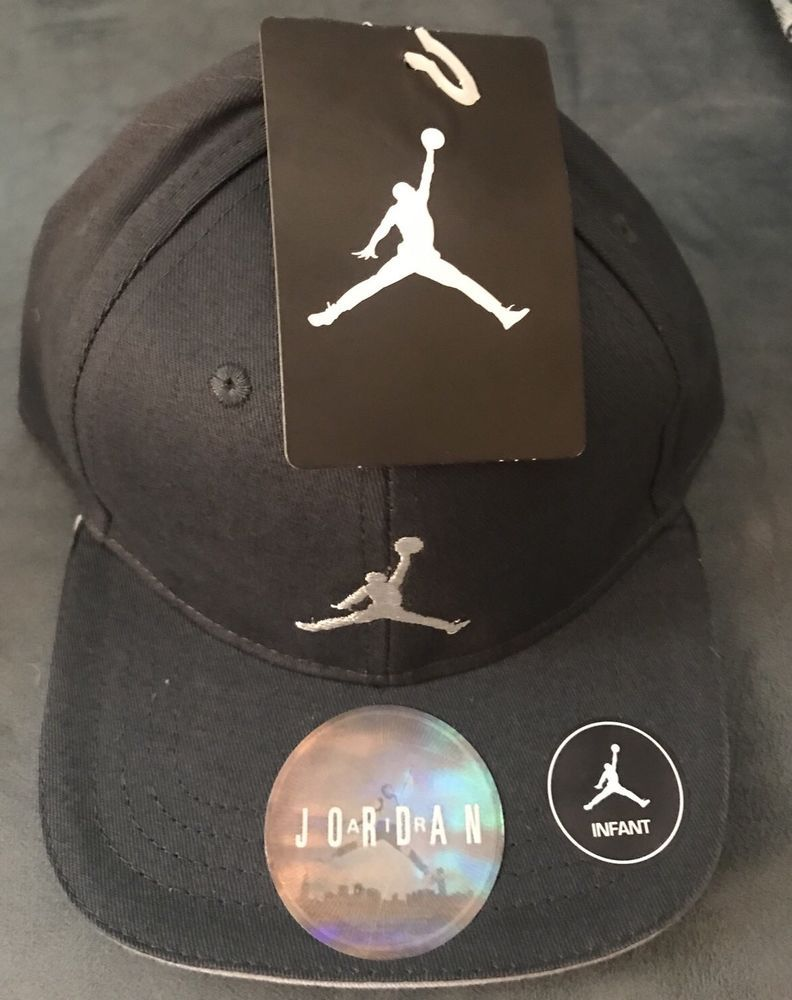 c703763c42b903 NWT NIKE AIR JORDAN JUMPMAN INFANT ADJUSTABLE SNAPBACK HAT CAP GARY 12-24