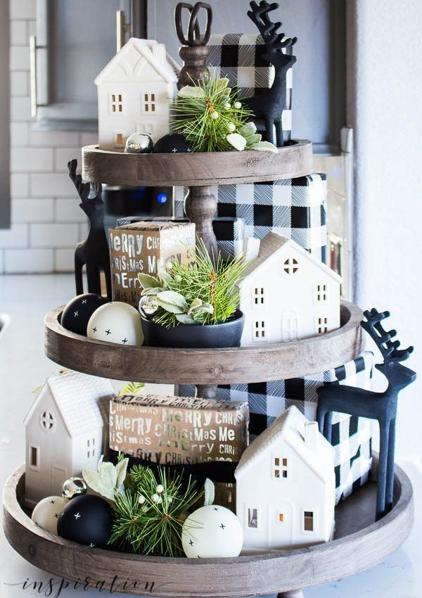 christmas kitchen a how to easily decorate a farmhouse tray for christmas