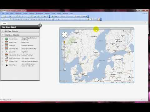 How to add the Google Maps extension objects in QlikView? | Qlikview Qlikview Maps on