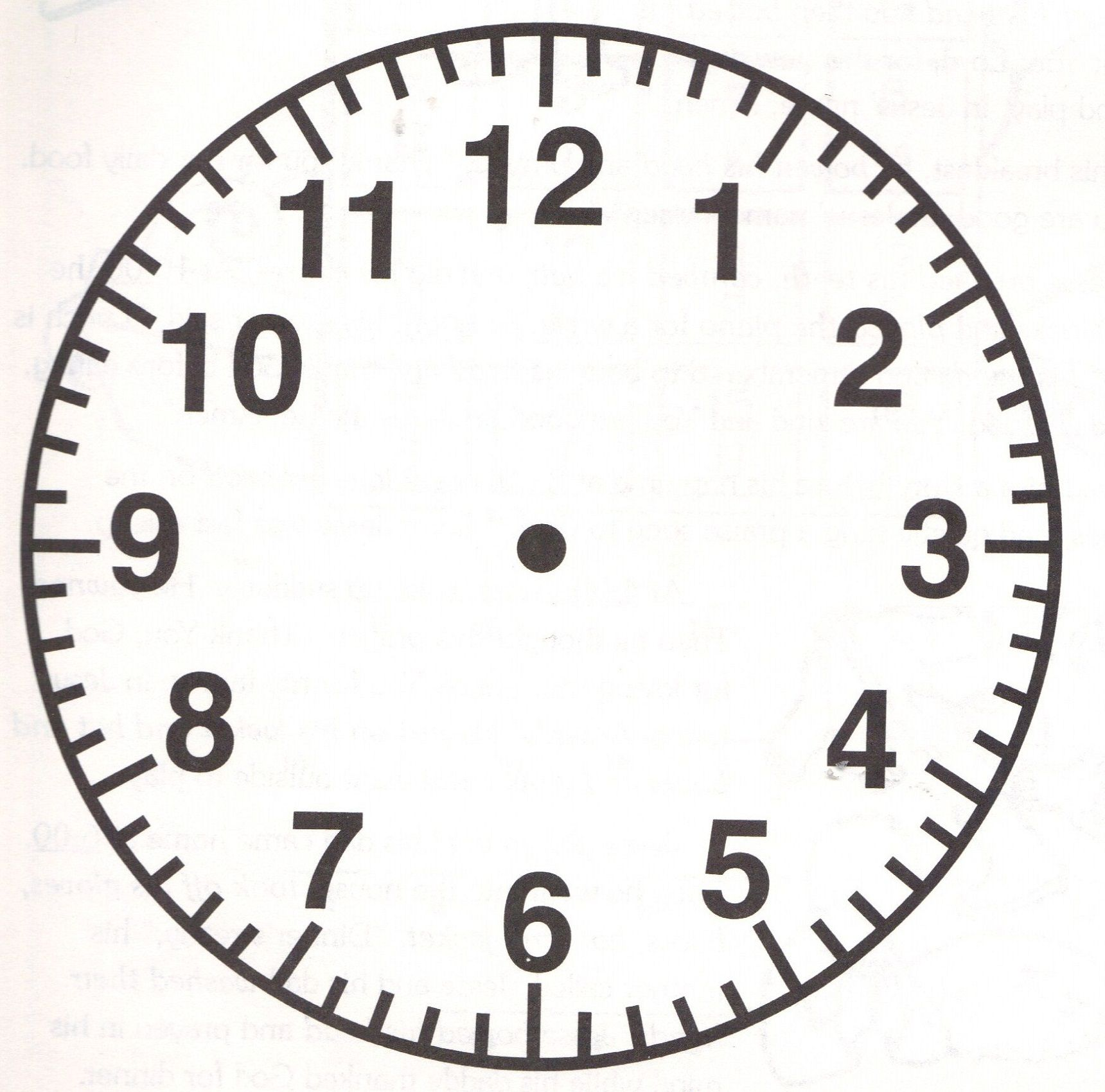 Blank Clock Faces For Exercises In