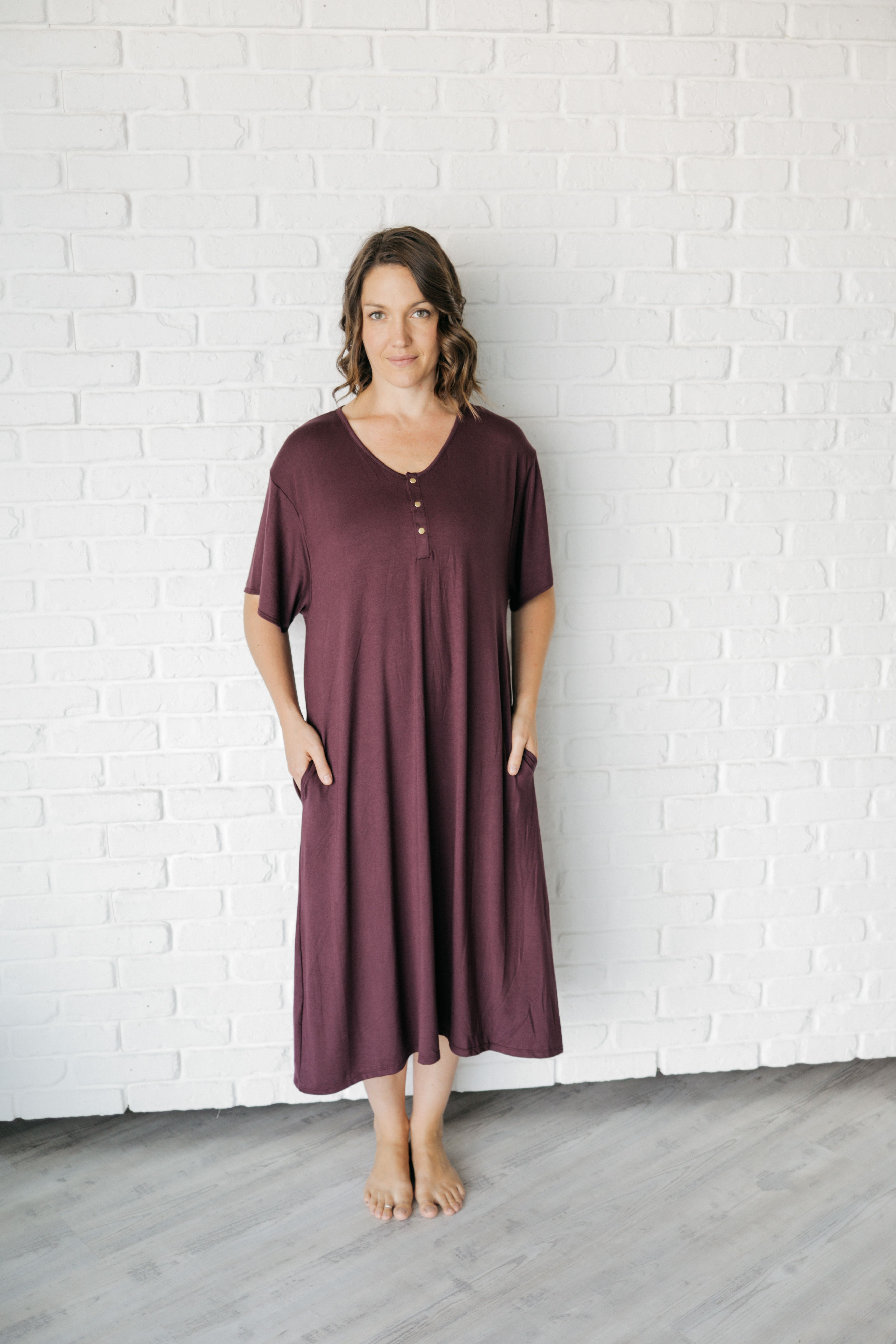 1a96c5e02b14c Undercover Mama Plum Luxe House Dress. The modern house dress for the  modern mom. Perfect for pregnancy, breastfeeding, and beyond!