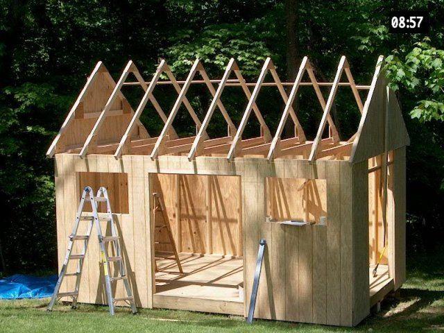 comment construire son abri de jardin en bois Cabane ext Pinterest