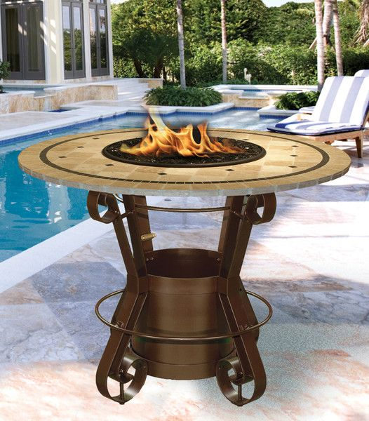 Solano bar height gaspropane fire pit table fire pit table gas not only is the solano bar height gas fire pit table luxurious and elegant but watchthetrailerfo