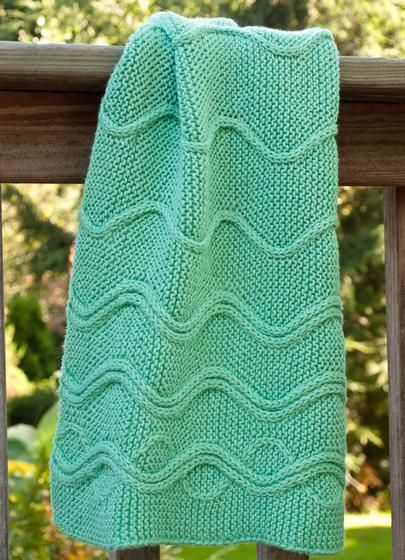 Cotlin Hand Towels with Traveling Stitch Designs - Knitting Patterns ...