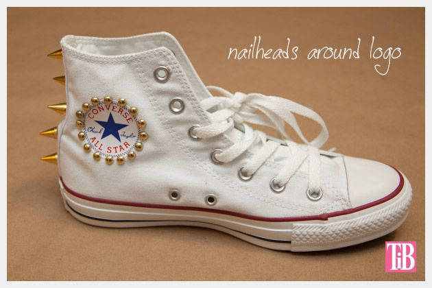 DIY Studded Converse Inner Side Finished