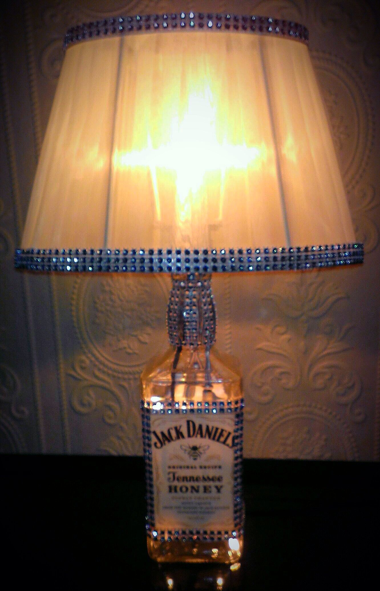 Jack daniels bottle light made by me with nice lights in the jack daniels bottle light made by me with nice lights in the bottle arubaitofo Choice Image