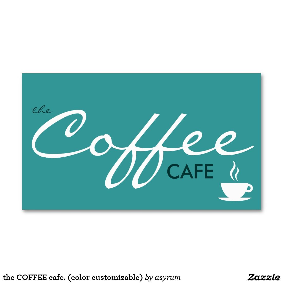The coffee cafe color customizable business card one a day the coffee cafe color customizable double sided standard business cards 05202015 to berlin germany asyrum reheart Gallery