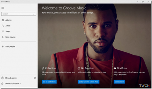 Microsoft Groove Music app is now available in Universal