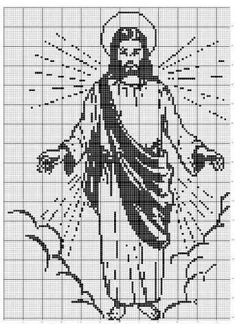 Imagen Jesucristo   ova   Pinterest   Jesucristo, Punto de cruz y Puntos