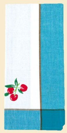 Amazon Com Retro 50 S Cherry Kitchen Towels By Red And White