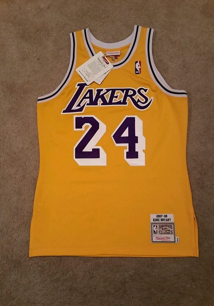 8eacd66d6 Kobe Bryant Lakers Jersey Mitchell And Ness 2007-08 Gold Size 40 M New Authentic  from  335.0