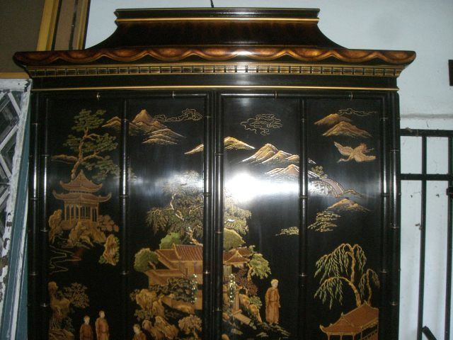Armoire Entertainment Center Drexel Heritage Asian Chinoiserie