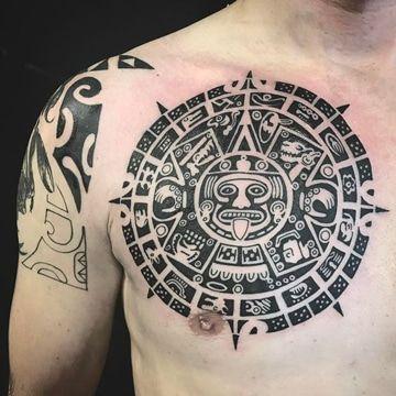 El asombroso significado y los tatuajes de calendario azteca Tatoo