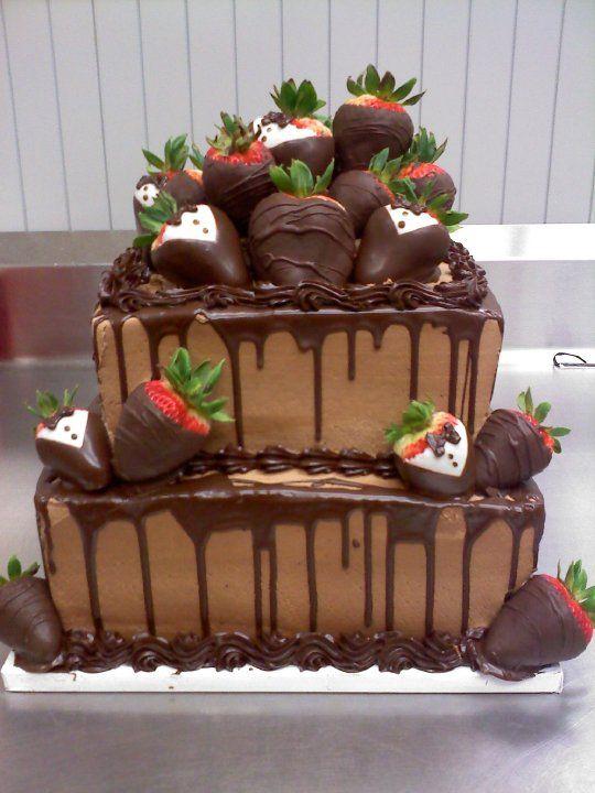 Chocolate square groom's cake | Wedding Inspiration ...