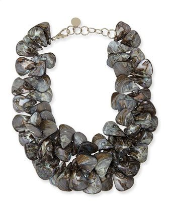 Nest Mother-of-Pearl Cluster Necklace i2rl4aJ