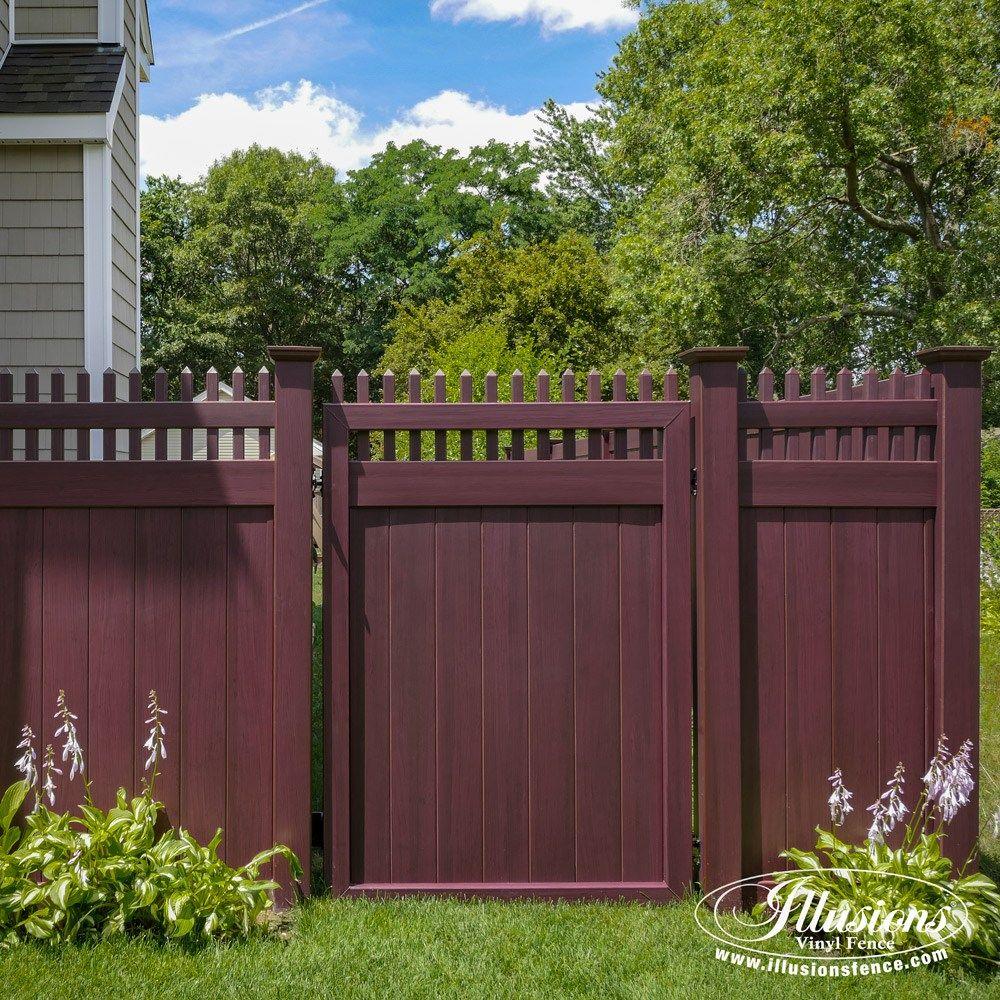 vinyl fence ideas. 15 Fantastic Mahogany Illusions PVC Vinyl Fence Images - Ideas