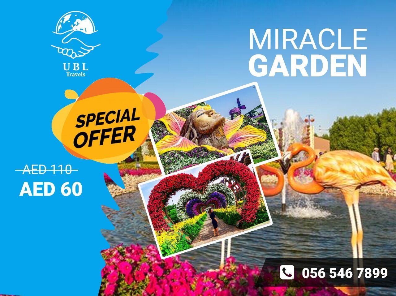 Do you want to see the unique flower garden in Dubai