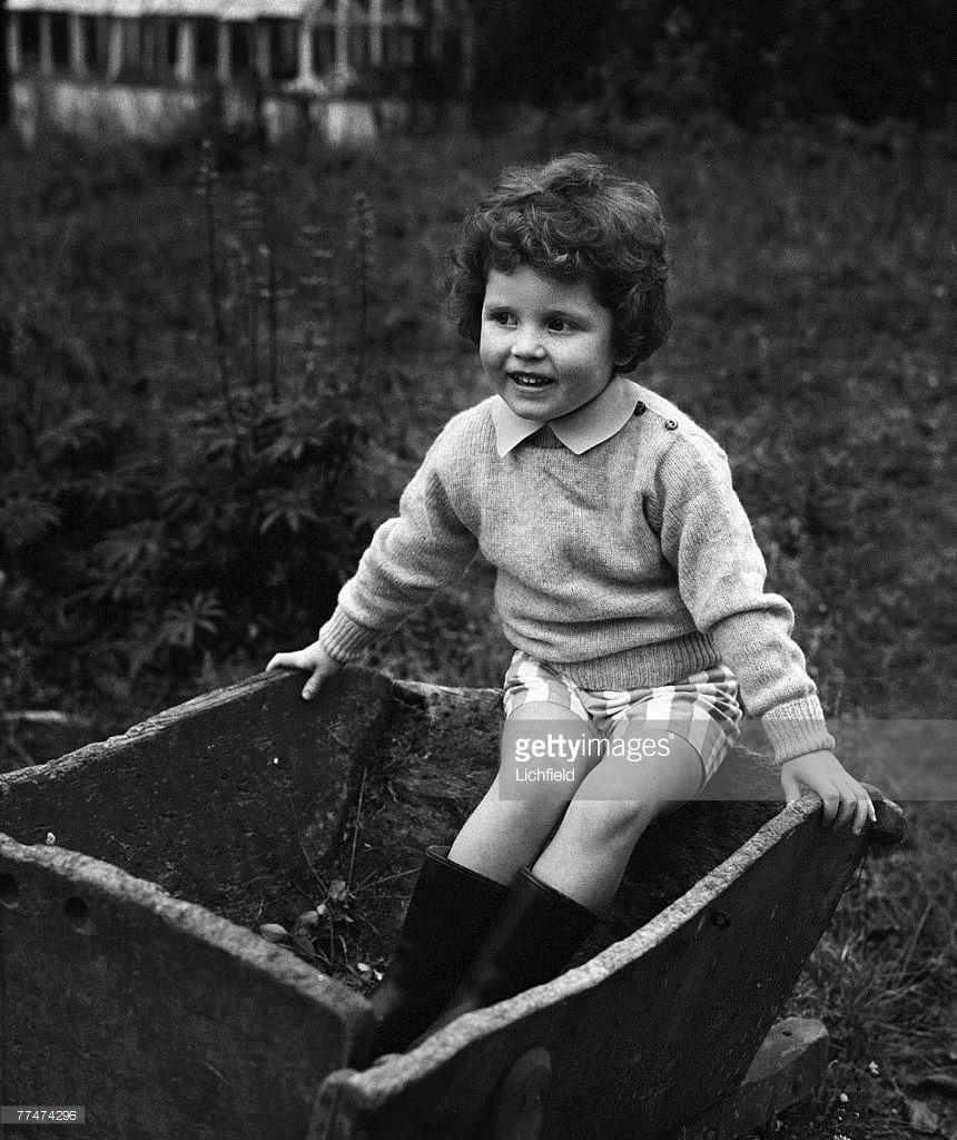 Miss Sarah Ferguson Aged 4 Years Old At Home Dummer Down Farm