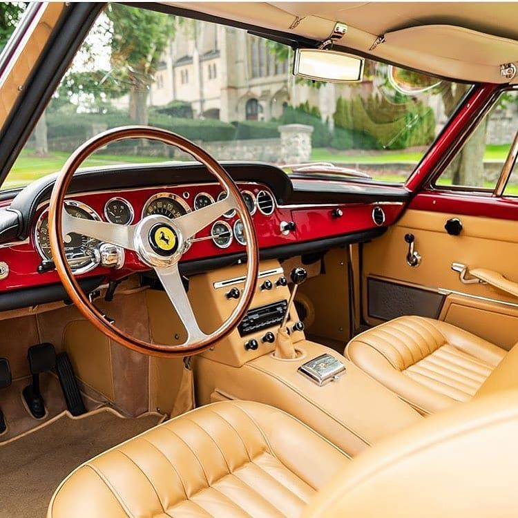 @assic Made by @Image.Downloader · · · · 1962 Ferrari 250 GTE interior!  By @lbilimited