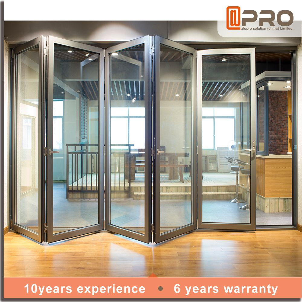 China Door Frame Exterior Aluminum Tempered Glass Bifold Folding Find Complete Details About