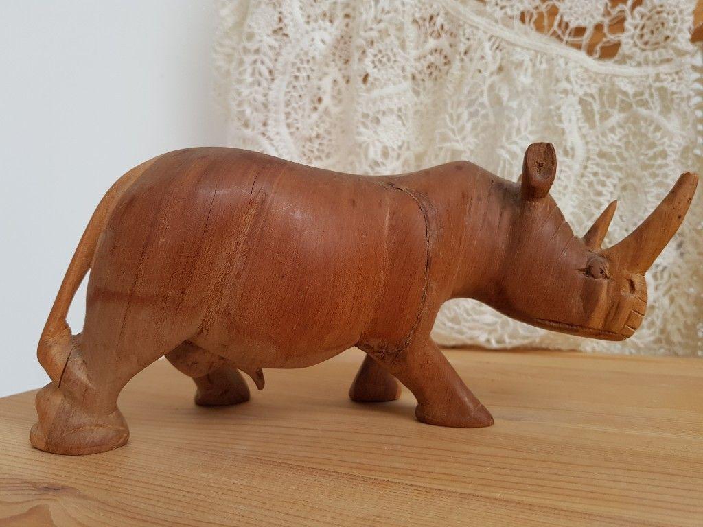 Rzezba Z Drewna Nosorozec 7181283856 Oficjalne Archiwum Allegro Piggy Piggy Bank