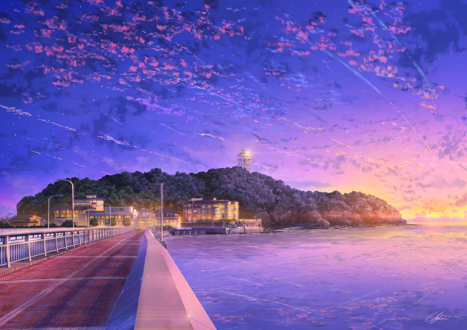 Japan Anime Sky 4k 3k Go Wallpapers Wallpapers Background Wallpaper Hd Original Resolution Down In 2020 Scenery Wallpaper Anime Backgrounds Wallpapers Anime Scenery
