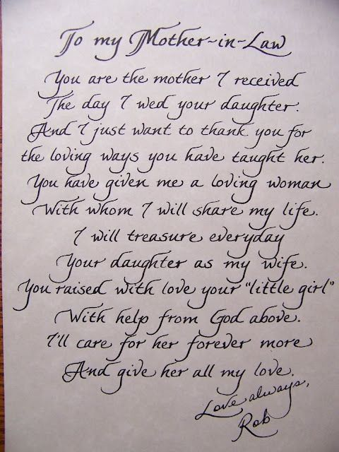 Letter to the mother in law wedding speeches pinterest wedding letter to the mother in law spiritdancerdesigns Gallery