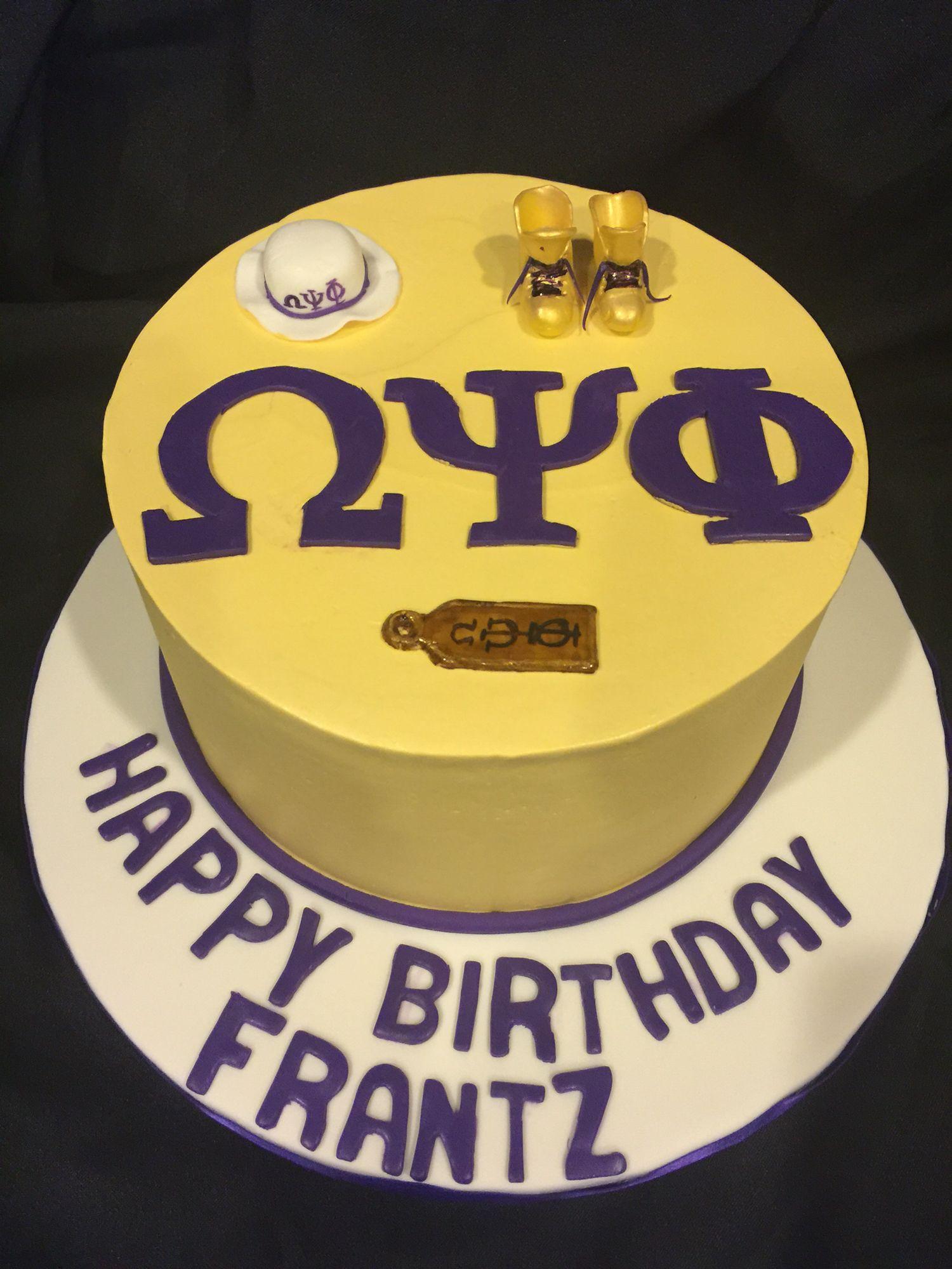 Omega Psi Phi Birthday Cake Omegabirthdaycakes