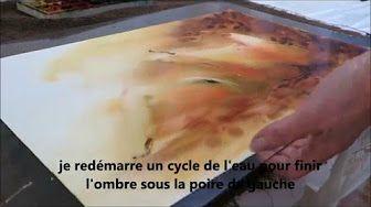 Peinture sous vos yeux avec Dominique Darras : comment peindre un ciel à l'aquarelle ? - YouTube