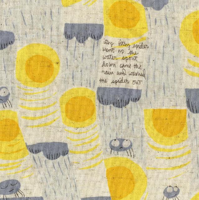 LOVE LOVE LOVE !  Designer Fabric | Heather Ross | Gray Itsy Bitsy Spider
